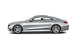 Car Driver side profile view of a 2015 Mercedes Benz S-Class S550 2 Door Coupe Side View