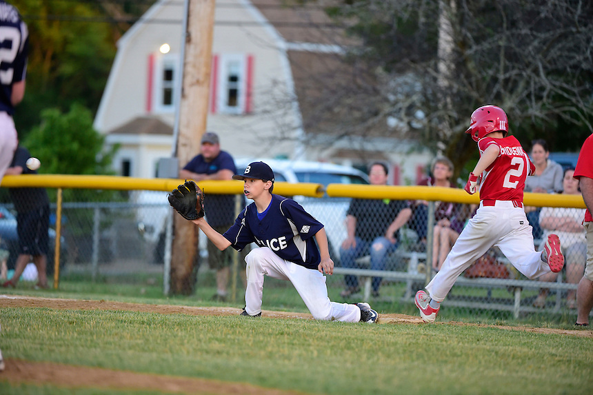 June 17, 2016: Playoff game action from Bridgewater Little League Bridgewater Police vs Bridgewater Savings Bank. Game played at Legion Field, in Bridgewater, Mass. Eric Canha/BridgewaterSports