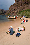 Rafting, no model release, on the Colorado River below Hoover Dam on border of Arizona, AZ, Nevada, NV, tourism, vacation, sports, Beach, sky, water, mountain, landscape, image nv433-18488.Photo copyright: Lee Foster, www.fostertravel.com, lee@fostertravel.com, 510-549-2202