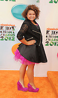 LOS ANGELES, CA - MARCH 31: Rachel Crow arrives at the 2012 Nickelodeon Kids' Choice Awards at Galen Center on March 31, 2012 in Los Angeles, California.