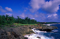 Hole number 7 found at the Coral Ocean Point golf course in Saipan