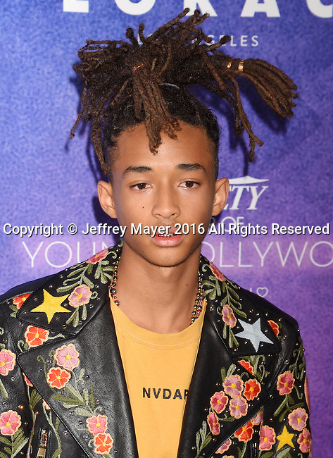 HOLLYWOOD, CA - AUGUST 16: Actor Jaden Smith arrives at Variety's Power Of Young Hollywood at NeueHouse Hollywood on August 16, 2016 in Los Angeles, California.