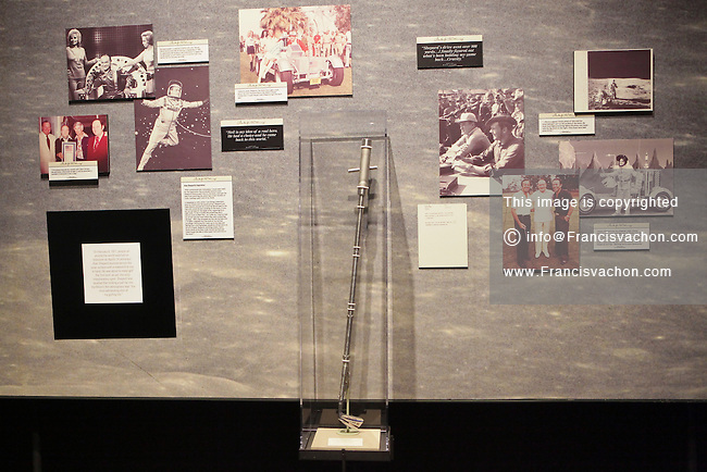 The golf club that was used by NASA astronaut Alan Shepard on the moon is seen at the World Golf Hall of Fame in St. Augustine, Florida Friday April 26, 2013. Located in The World Golf Village, the World Golf Hall of Fame features exhibits on the game's history, heritage, and techniques and a Hall of Fame.