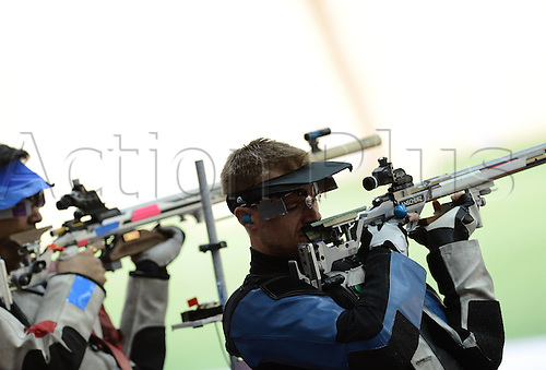 06.08.2012. London, England. Matthew Emmons r of The United States competes in  The Qualification Match of mens 50m rifle 3   London 2012 Olympic Games London