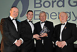 At the Bord G&aacute;is Energy Munster GAA Sports Star of the Year Awards in The Malton Hotel, Killarney on Saturday night were front from left, Dave Kirwan, Managing Director, Bord Gais Energy, James O&rsquo;Donoghue, Kerry, senior footballer  of the year, Jerry O&rsquo;Sullivan, Munster GAA Chairman and Robert Frost, Chairman, Munster GAA.<br /> Picture by Don MacMonagle<br /> <br /> PR photo from Munster Counci