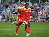 Kansas City, MO - Sunday July 02, 2017:  Nichelle Prince attempts a shot during a regular season National Women's Soccer League (NWSL) match between FC Kansas City and the Houston Dash at Children's Mercy Victory Field.