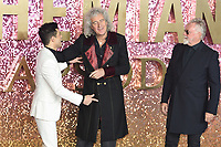 "LONDON, UK. October 23, 2018: Brian May, Rami Malek & Roger Taylor at the world premiere of ""Bohemian Rhapsody"" at Wembley Arena, London.<br /> Picture: Steve Vas/Featureflash"