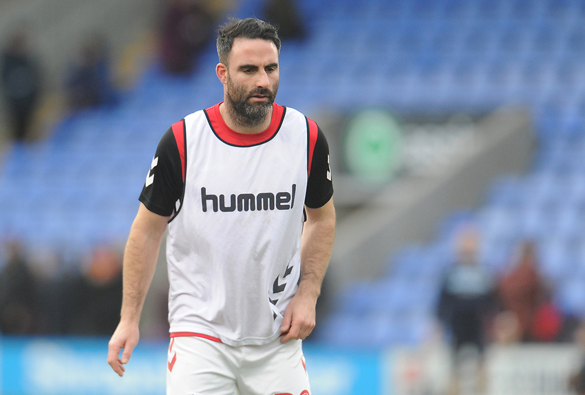 Fleetwood Town's Craig Morgan during the pre-match warm-up <br /> <br /> Photographer Kevin Barnes/CameraSport<br /> <br /> The EFL Sky Bet League One - Shrewsbury Town v Fleetwood Town - Tuesday 1st January 2019 - New Meadow - Shrewsbury<br /> <br /> World Copyright © 2019 CameraSport. All rights reserved. 43 Linden Ave. Countesthorpe. Leicester. England. LE8 5PG - Tel: +44 (0) 116 277 4147 - admin@camerasport.com - www.camerasport.com