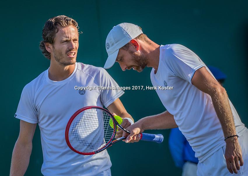London, England, 5 th July, 2017, Tennis,  Wimbledon, Men's doubles Wesley Koolhof (NED) (L) / Matwe Middelkoop (NED)<br /> Photo: Henk Koster/tennisimages.com