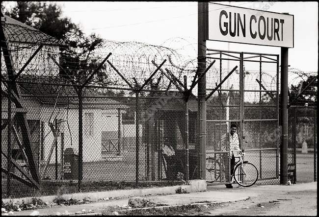 The Gun Court, a branch of the Jamaican judicial system that tries criminal cases involving firearms. Kingston, Jamaica. March 1976