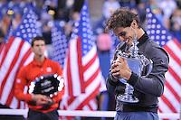 Rafael Nadal (Esp) vs Novak Djokovic (Ser) <br /> Flushing Meadows 08/09/2013<br /> Tennis US Open Finale Uomini <br /> Foto Panoramic / Insidefoto<br /> ITALY ONLY