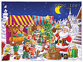 Eberle, Comics, CHRISTMAS SANTA, SNOWMAN, paintings, DTPC108,#X# Weihnachten, Navidad, illustrations, pinturas