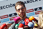 Spain's Sergio Ramos arrives to the national football team stage. March 20,2017.(ALTERPHOTOS/Acero)