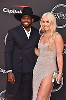 LOS ANGELES, USA. July 10, 2019: Lindsey Vonn & PK Subban at the 2019 ESPY Awards at the Microsoft Theatre LA Live.<br /> Picture: Paul Smith/Featureflash