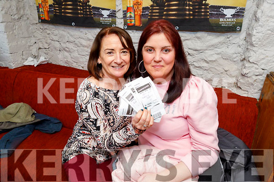 Katie McCarthy and Marie Dennehy in Linnanes Bar enjoying the Gold Cup on Friday.
