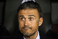 VALENCIA, SPAIN - DECEMBER 5: Luis Enrique during BBVA LEAGUE match between Valencia C.F. and FC Barcelona at Mestalla Stadium on December 5, 2015 in Valencia, Spain