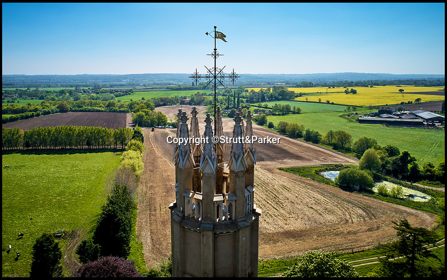 BNPS.co.uk (01202 558833)Pic: Strutt&Parker/BNPS<br /> <br /> This stunning 175ft tall gothic tower which has undergone a major renovation has emerged on the market for £2million.<br /> <br /> Majestic eight storey Hadlow Tower was built in 1838 in the grounds of the no longer standing Hadlow Castle in Tonbridge, Kent, by a wealthy merchant and land owner.<br /> <br /> A three-year £4.5million renovation completed in 2013 paid for by the National Heritage Lottery Fund and English Heritage transformed Hadlow Tower into a state of the art home boasting its own lift.<br /> <br /> Its present owner, accountant Christian Tym, purchased Hadlow Tower for £425,000 last August but it has soared in value after he was able to get some restrictive covenants lifted which had put off other prospective buyers.