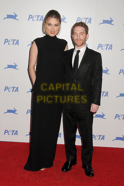 30 September 2015 - Hollywood, California - Clare Grant, Seth Green. PETA 35th Anniversary Gala held at the Hollywood Palladium. <br /> CAP/ADM/BP<br /> &copy;BP/ADM/Capital Pictures