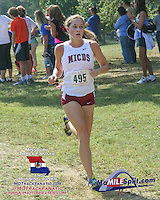 MICDS So. Geneva Lee turned a 12-second halfway deficit into a 12-second victory by the end of the Jefferson Barracks course to capture the Varsity 3A Girls 5k title to help the Lady Rams to victory.