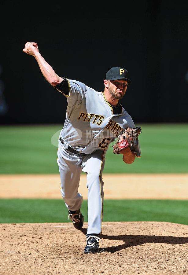 Apr. 11, 2010; Phoenix, AZ, USA; Pittsburgh Pirates pitcher Hayden Penn against the Arizona Diamondbacks at Chase Field. Mandatory Credit: Mark J. Rebilas-