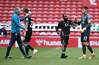 Aldo Kalulu and Freddie Woodman of Swansea City celebrate at full time during the Sky Bet Championship match between Middlesbrough and Swansea City at The Riverside Stadium on June 20, 2020 in Middlesbrough, England, UK.  Saturday 20th June 2020