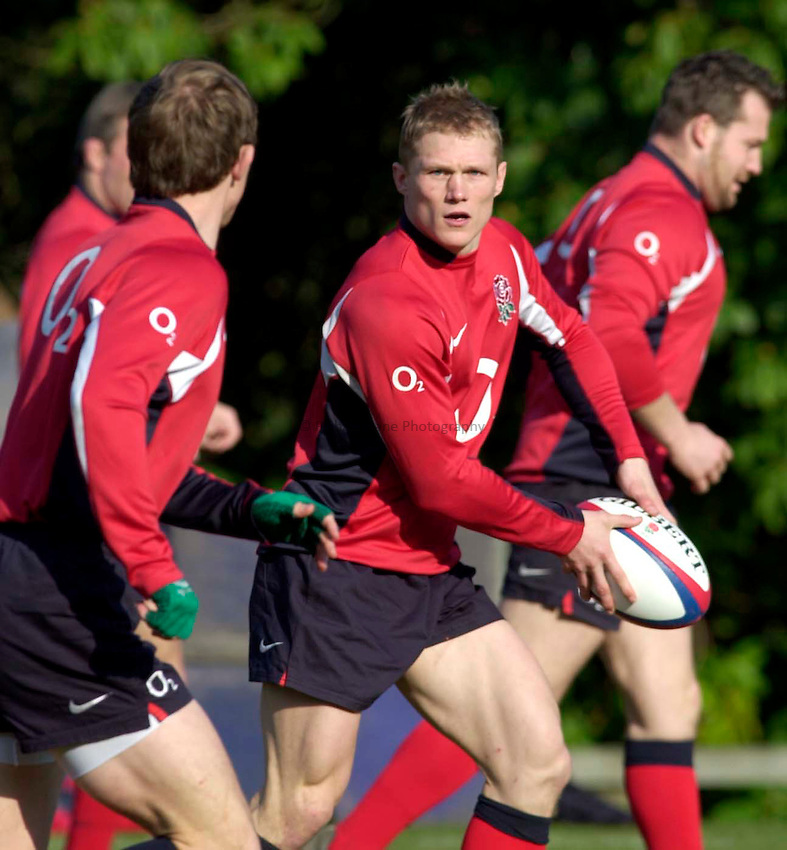 Photo. Richard Lane.England RFU Training. 19/03/2003.Josh Lewsey