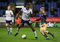 Bolton Wanderers' Sammy Ameobi competing with Sheffield Wednesday's Barry Bannan <br /> <br /> Photographer Andrew Kearns/CameraSport<br /> <br /> The EFL Sky Bet Championship - Bolton Wanderers v Sheffield Wednesday - Tuesday 12th March 2019 - University of Bolton Stadium - Bolton<br /> <br /> World Copyright © 2019 CameraSport. All rights reserved. 43 Linden Ave. Countesthorpe. Leicester. England. LE8 5PG - Tel: +44 (0) 116 277 4147 - admin@camerasport.com - www.camerasport.com