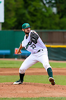 Beloit Snappers pitcher Bryce Conley (33) delivers a pitch during a Midwest League game against the Quad Cities River Bandits on May 20, 2018 at Pohlman Field in Beloit, Wisconsin. Beloit defeated Quad Cities 3-2. (Brad Krause/Four Seam Images)