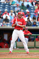 Philadelphia Phillies outfielder Jeff Francoeur (3) during a Spring Training game against the New York Yankees on March 27, 2015 at Bright House Field in Clearwater, Florida.  New York defeated Philadelphia 10-0.  (Mike Janes/Four Seam Images)