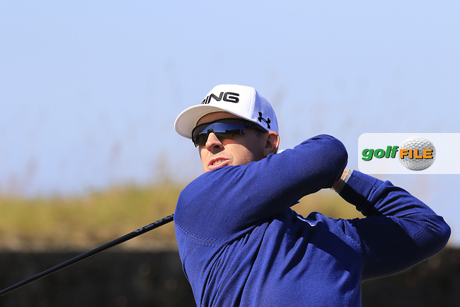 Hunter MAHAN (USA) tees off the 18th tee during Wednesday's Practice Day of the 2015 U.S. Open 115th National Championship held at Chambers Bay, Seattle, Washington, USA. 6/17/2015.<br /> Picture &copy; Golffile/Eoin Clarke