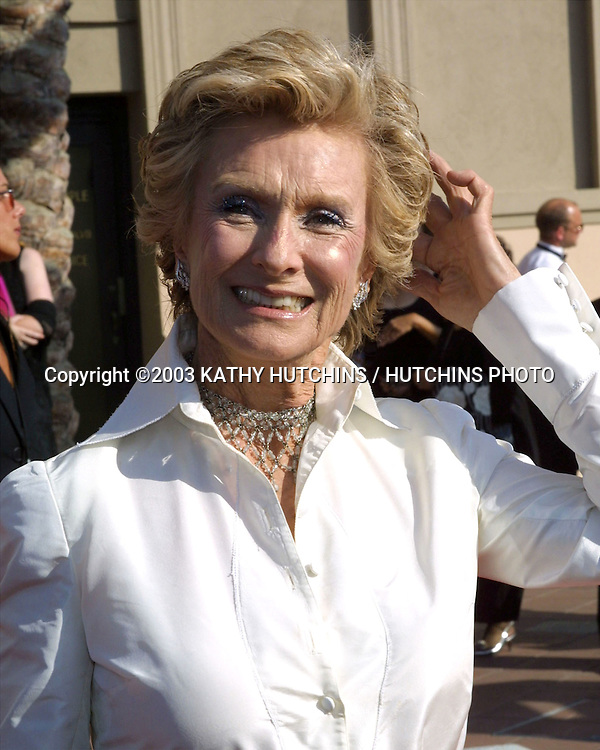 ©2003 KATHY HUTCHINS / HUTCHINS PHOTO.Primtime Creative Emmy Awards .Shrine Auditorium.September 13, 2003...CLORIS LEACHMAN