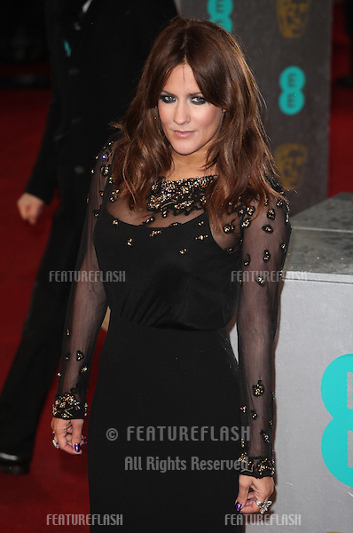 Caroline Flack arriving for the 2013 British Academy Film Awards, at the Royal Opera House, London. 10/02/2013 Picture by: Alexandra Glen / Featureflash