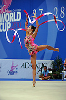 Neta Rivkin of Israel performs with ribbon at 2010 Pesaro World Cup on August 27, 2010 at Pesaro, Italy.  Photo by Tom Theobald.