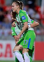 VfL Wolfsburg's Alexandra Popp (l) and Ewa Pajor celebrate goal during UEFA Womens Champions League 2017/2018, 1/16 Final, 1st match. October 4,2017. (ALTERPHOTOS/Acero) /NortePhoto.com /NortePhoto.com