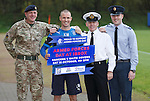 Kenny Miller promotes Armed Forces day at Ibrox with Army Warrant Officer Jim Chisholm, Navy Warrant Officer John Dickie and RAF Cpl Gordon Campbell
