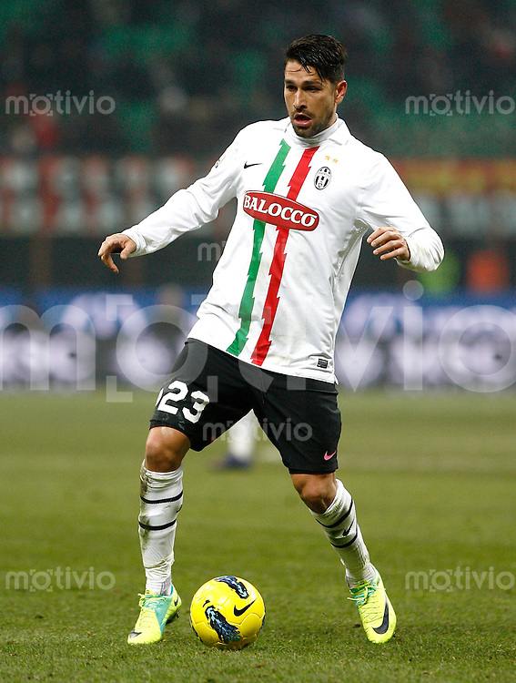 FUSSBALL INTERNATIONAL   SERIE A Coppa Italia  SAISON 2011/2012    AC Mailand - Juventus Turin  08.02.2012 Marco Borriello (Juventus Turin)