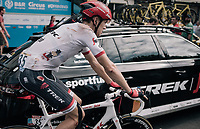 Michael Gogl (AUT/Trek-Segafredo) rolling in after the finish with clear proof of his crash earlier in the race<br /> <br /> 104th Tour de France 2017<br /> Stage 11 - Eymet &rsaquo; Pau (202km)