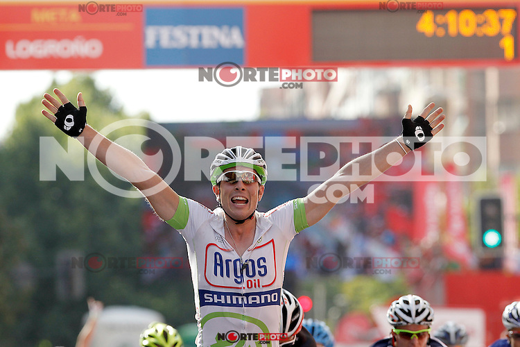 John Degenkolb winner during the stage of La Vuelta 2012 between Logroño and Logroño.August 22,2012. (ALTERPHOTOS/Acero) /NortePhoto.com<br />