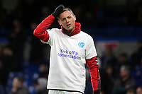 Nemanja Matic of Manchester United wears a Kick Off a Conversation T-shirt ahead of kick off during Chelsea vs Manchester United, Premier League Football at Stamford Bridge on 17th February 2020