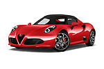 Stock pictures of low aggressive front three quarter view of a 2019 Alfa Romeo 4C Spider 2 Door Convertible