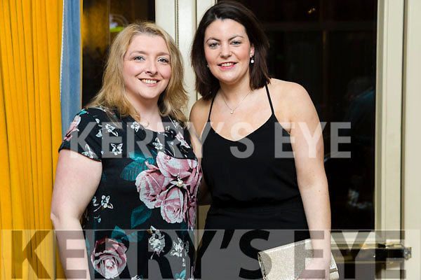 Koren O'Brien and Aoife O'Hanlon, enjoying a night out at Ballymac Strictly Come Dancing, at Ballygarry House Hotel & Spa, Tralee, on Saturday night last.