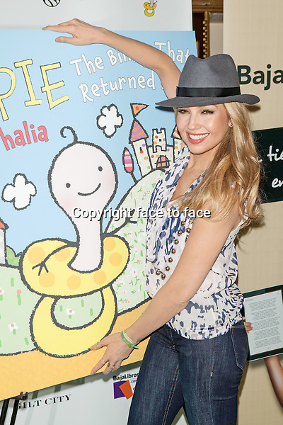 Thalia celebrates the launch of her new children's book 'Chupie: The Binky That Returned Home' at The New York Public Library on November 6, 2013 in New York City. <br />