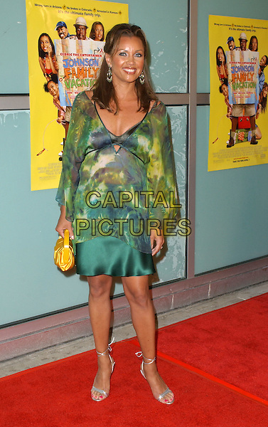 VANESSA WILLIAMS.World Premiere of Johnson Family Vacation held at The Cinerama Dome in Hollywood, California .31 March 2004.*UK Sales Only*.full length, full-length, green print floaty top, skirt, yellow handbag, silver lace-up tie-up strappy sandals shoes.www.capitalpictures.com.sales@capitalpictures.com.©Capital Pictures.