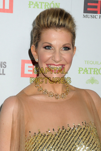 Joyce DiDonato.EMI Music 2012 Grammy Awards Party held at Capital Records Tower, Hollywood, California, USA..February 12th, 2012.headshot portrait smiling necklace gold sheer  sequins sequined .CAP/ADM/BP.©Byron Purvis/AdMedia/Capital Pictures.