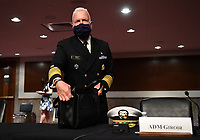 Admiral Brett Giroir, United States Assistant Secretary for Health, prepares to testify before the Senate Health, Education, Labor and Pensions (HELP) Committee on Capitol Hill in Washington DC on Tuesday, June 30, 2020.  Fauci and other government health officials updated the Senate on how to safely get back to school and the workplace during the COVID-19 pandemic. <br /> Credit: Kevin Dietsch / Pool via CNP /MediaPunch