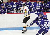 Mick Bruce (WIT - 27), Frankie Posillico (Curry - 13) - The Wentworth Institute of Technology Leopards defeated the visiting Curry College Colonels 1-0 on Saturday, November 23, 2013, at Walter Brown Arena in Boston, Massachusetts.