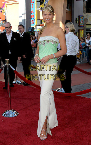 """NANCY ODELL.""""Cinderella Man"""" World Premiere held at The Gibson Amphitheatre, Universal City, California.May 23rd, 2005.Photo Credit: Jacqui Wong/AdMedia.full length strapless green top sequined white trousers.www.capitalpictures.com.sales@capitalpictures.com.© Capital Pictures."""