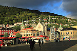 Historic buildings in the Torget market square area of Vagen harbour, Bergen, Norway