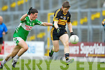 Kieran O'Leary Dr. Crokes in action against Cathal Sheehan Legion in the  Senior Club Championship Final at Fitzgerald Stadium on Saturday.