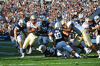 Sept. 19, 2009; Provo, UT, USA; Florida State Seminoles running back (24) Lonnie Pryor runs into the end zone for a touchdown in the second quarter against the BYU Cougars at LaVell Edwards Stadium. Mandatory Credit: Mark J. Rebilas-